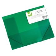 Strikkmappe A3 PP m/3 klaffer grønn