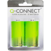 Batteri Q-Connect alkalisk LR20/D 1.5V
