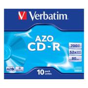 CD-R Verbatim 700MB 52x JC 10pk