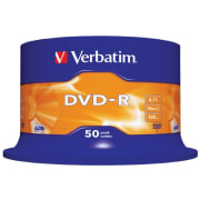DVD-R Verbatim 4,7GB 16x spindel 50pk
