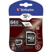 Minnekort Micro SDHC 64GB m/adapter