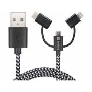Kabel 3i1 Lighting + Micro USB + USB-C
