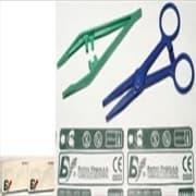 Pinsett plast steril grønn