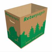 Kasse til Returpapir 40x25x36cm