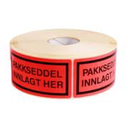 Etikett-Pakkseddel Innlagt 5,8x10cm