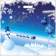 Bærepose blå m/julemotiv