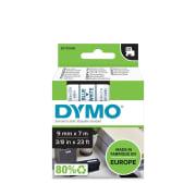 Tape Dymo D1 9mm x 7m blå/hvit