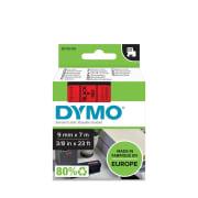 Tape Dymo D1 9mm x 7m sort/rød