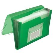 Prosjektmappe A4 PP 13 lommer grønn