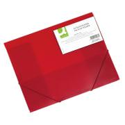 Strikkmappe A3 PP m/3 klaffer rød