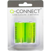 Batteri Q-Connect alkalisk LR14/C 1.5V
