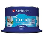CD-R Verbatim 700MB 52x printbar 50pk