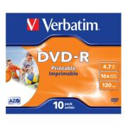 DVD-R Verbatim 4,7GB 16x printbar 10pk