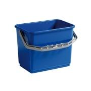 Bøtte med håndtak rektangulær 4l blå