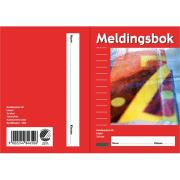 Meldingsbok A6 24bl m/sidenummer