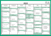 Kontorkalender A4 enkel 2021