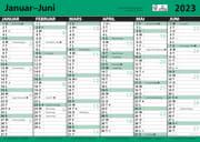 Kontorkalender A5 enkel m.linjer 2021