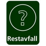 Etikett PU Restavfall 6x4,5cm