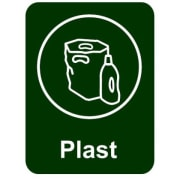 Etikett PU Plast 6x4,5cm