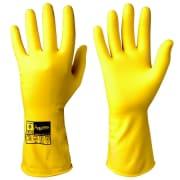Gummihanske rullekant gul large