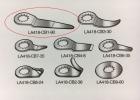 IR LA418-CB1-90 Rett Lang - Kniv til Rutekutter