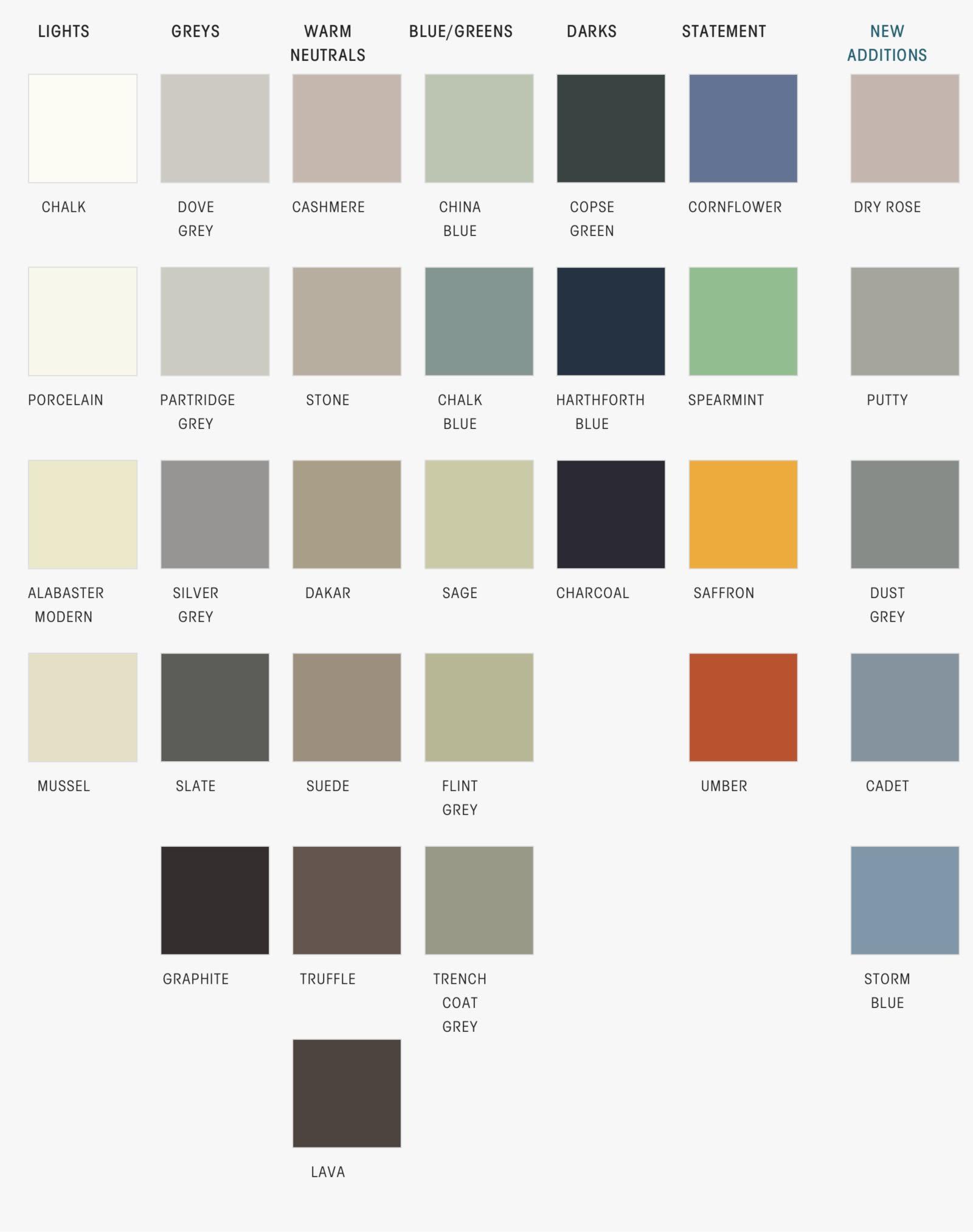 PWS bespoke colours