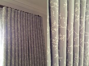 Grey Curtains, Curtain Poles - Material Concepts Battersea, London-1
