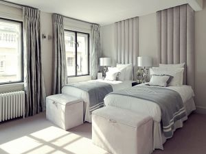 Silver Vertical Single Headboard Material Concepts