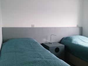 Two Single Beds with Headboards Material Concepts