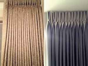 Beige Blackout Curtains and Curtain Poles - Material Concepts