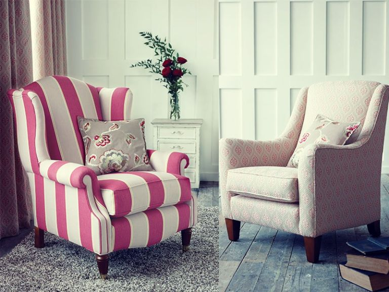 armchairs-Pink-striped