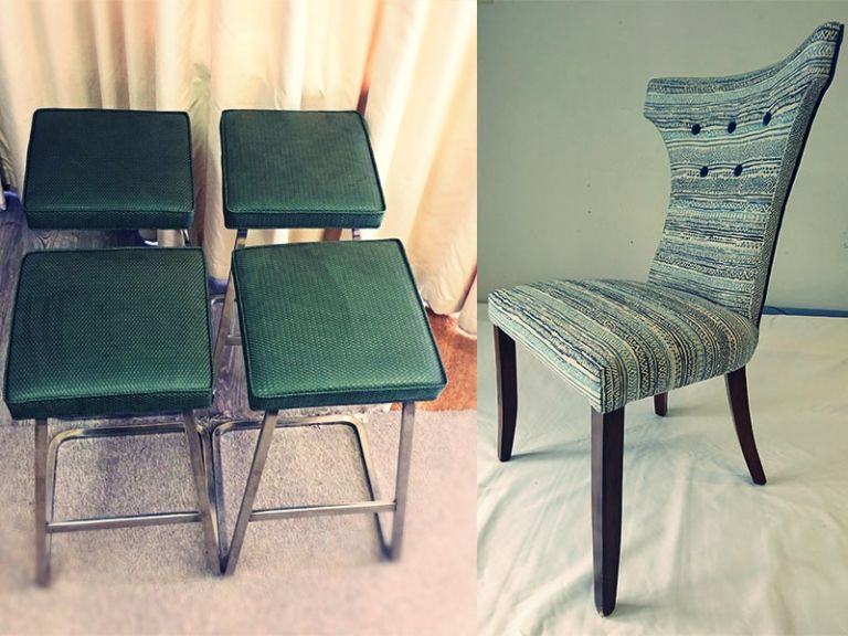 green-and-multi-colour-chair