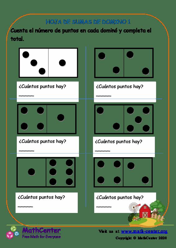 Hoja De Adiciones De Domino 1