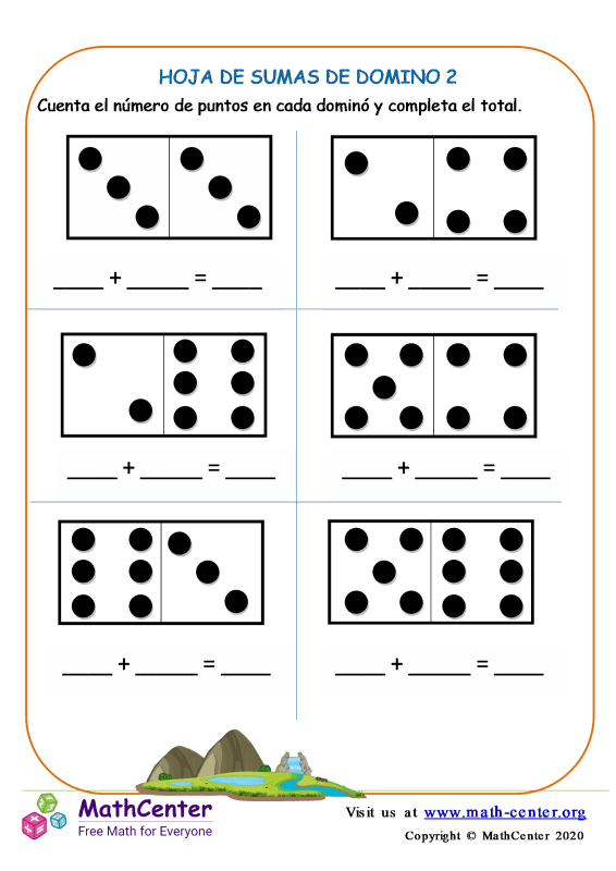 Hoja De Adiciones De Domino 2