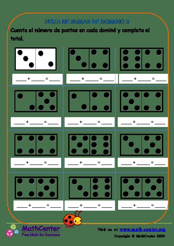 Hoja De Adiciones De Domino 3