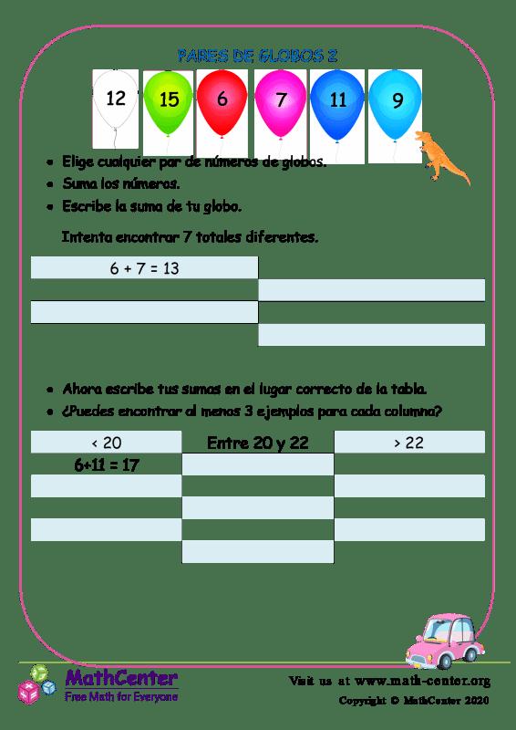 Desafío de pares de globos 2