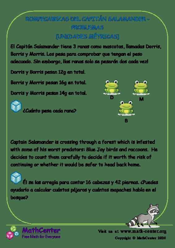 Rompecabezas Del Capitán Salamander - Problemas
