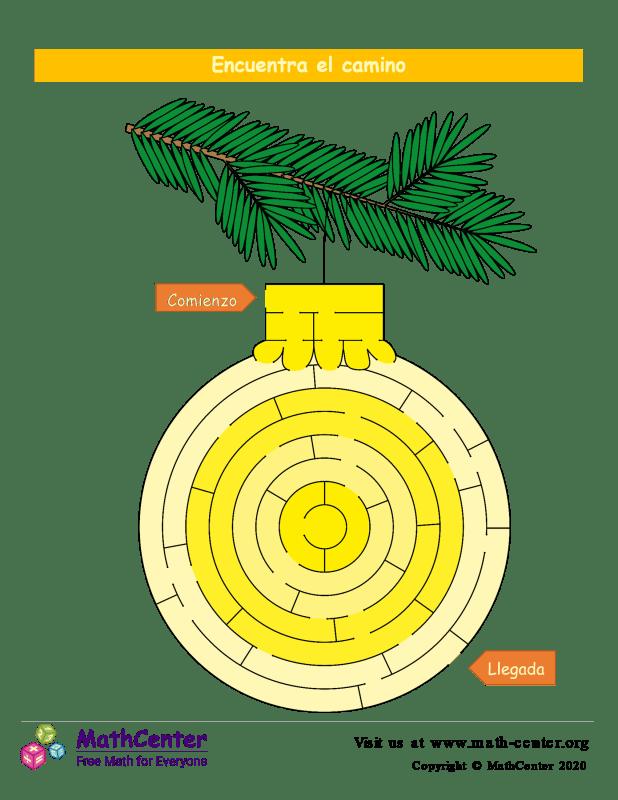 Laberinto de Bola navideña