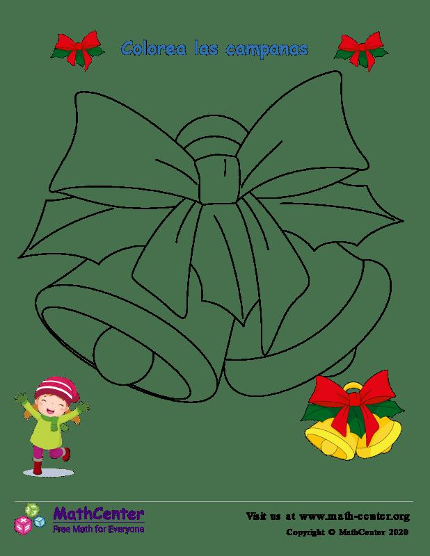 Hoja para colorear - Campana de Navidad N°1