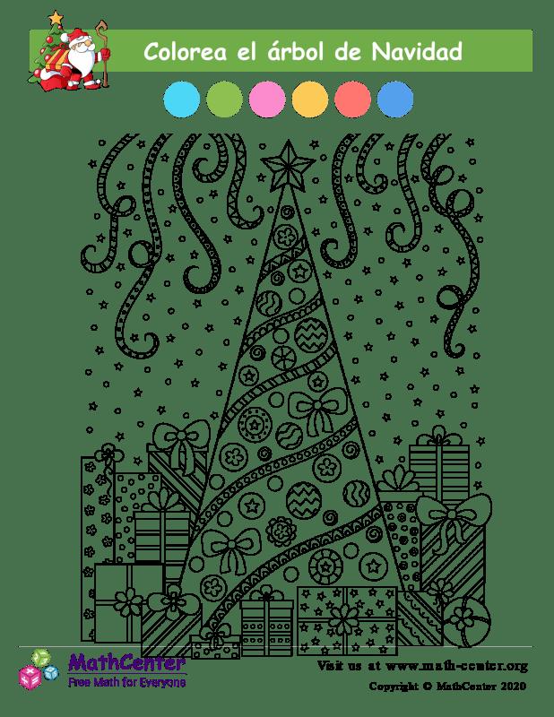 Colorear el Árbol de Navidad