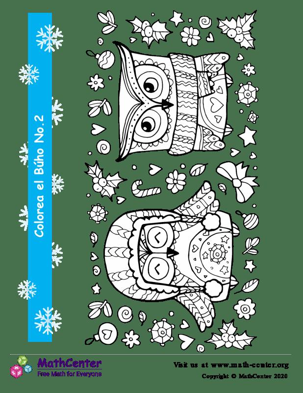 Colorear el Búho de invierno N°1