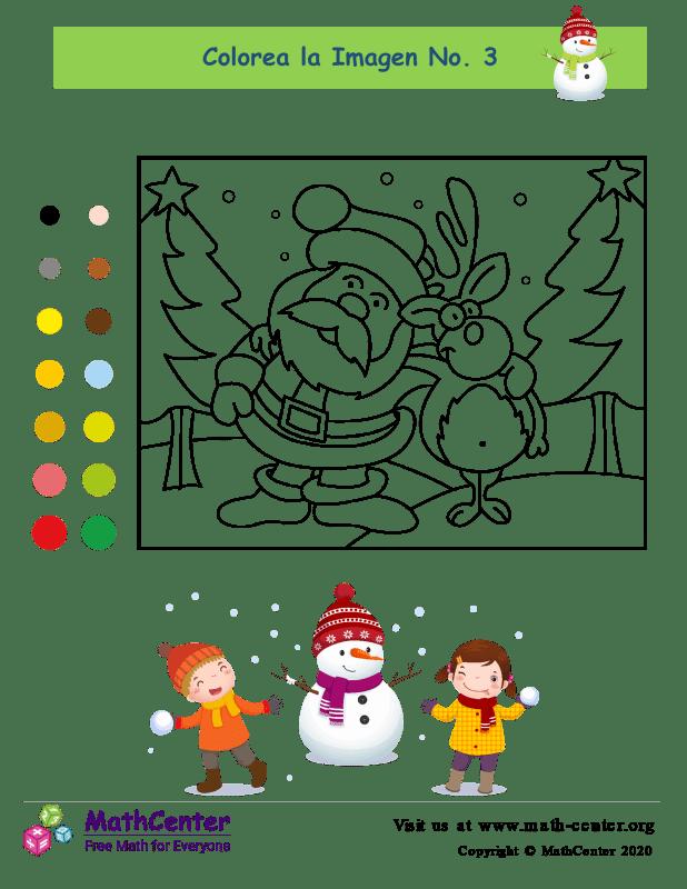 Página para colorear de Santa Claus 3