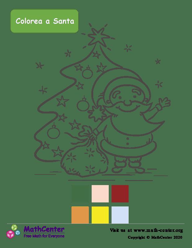 Página para colorear de Santa Claus