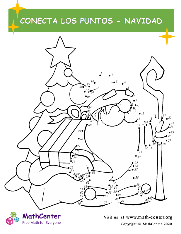 Conecta los puntos Hasta 90 - Santa Claus
