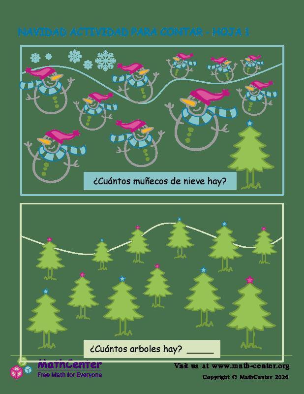 Navidad Actividad Para Contar Hoja 1