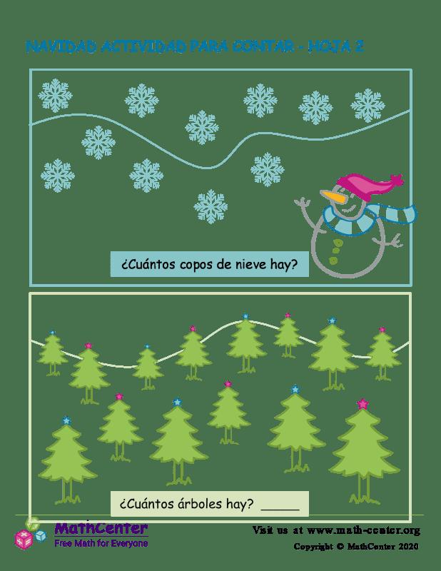 Navidad Actividad Para Contar Hoja 2