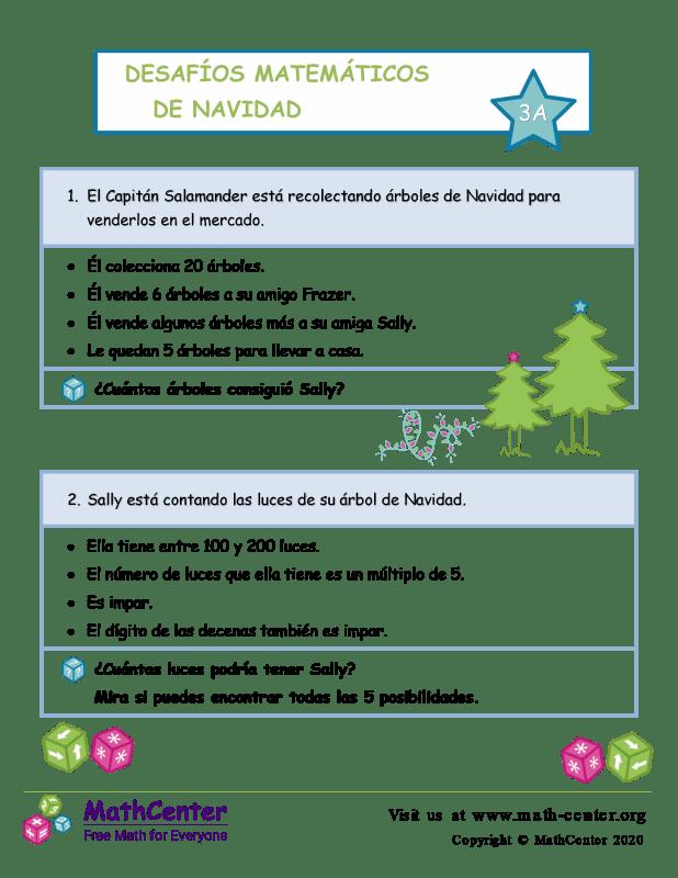 Desafío de matemáticas de Navidad n.º 3 A