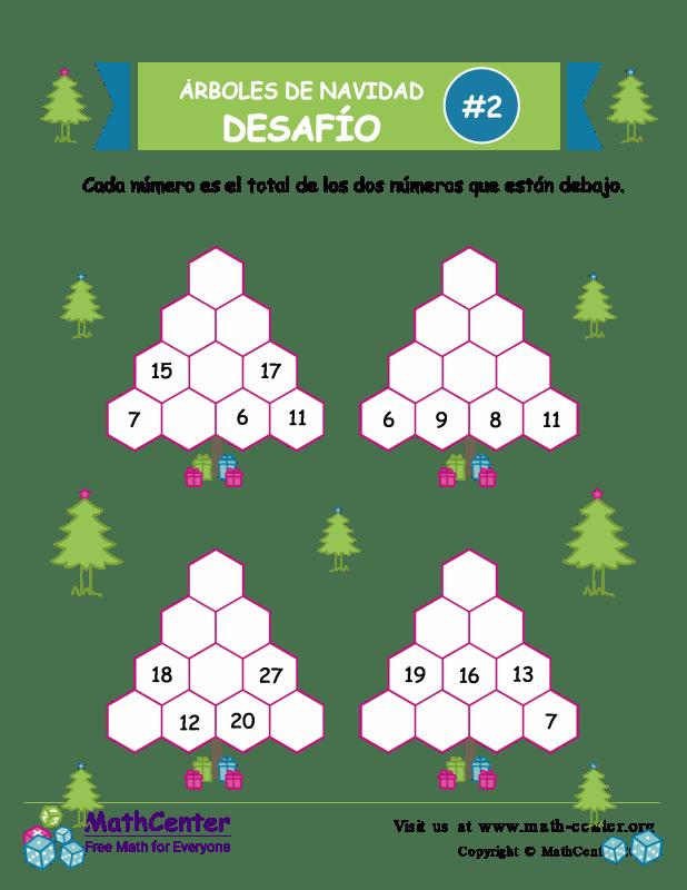 Desafío de Sumas de árbol de Navidad 2