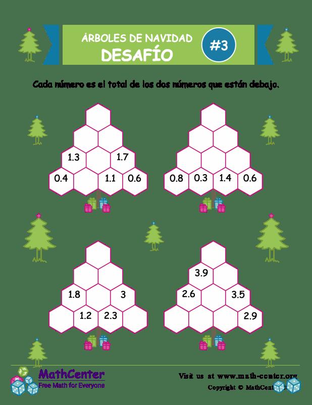 Desafío de Sumas de árbol de Navidad 3