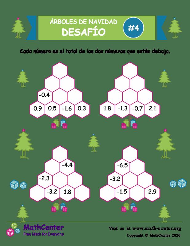 Desafío de Sumas de árbol de Navidad 4